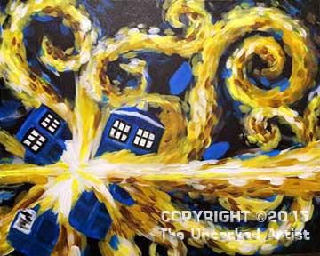 Doctor Who Tardis (#292) • Created by Liz • 16x20 • Tier 4
