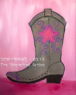 Cowgirl Boot (#307) • Created by Steffi • 11×14 • Template • Tier 2