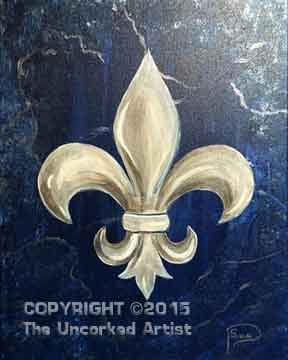Fleur De Lis (#304) • Created by Susan • 11x14 • Template • Tier 3