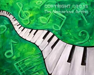Piano (#309) • Created by Liz • 16x20 • Tier 3