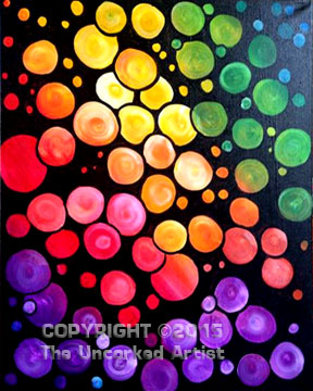 Rainbow Circles • Created by Karoline • 11×14 • Tier 3
