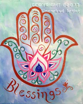 Hamsa Hand (#318) • Created by Rebecca • 11×14 • Tier 3
