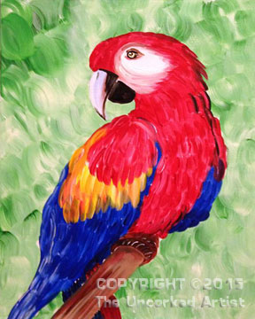 Parrot (#328) • Created by Karoline • 16×20 • Tier 3