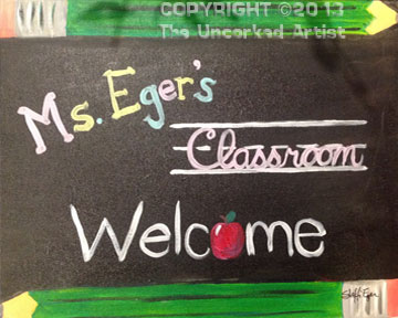 Classroom Welcome (#290) • Created by Steffi • 16×20 • Tier 3