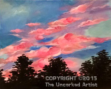 Sunset Over Doylestown Hospital (#351) • Created by Liz • 16×20 • Tier 3