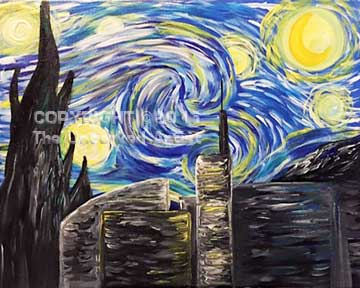 Starry Knight Over North Penn (#357) • Created by Mandy • 16×20 • Tier 3