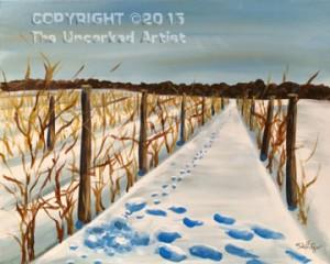 Sand Castle Winery Winter Fields (#372) • Created by Steffi • 16×20 • Tier 3