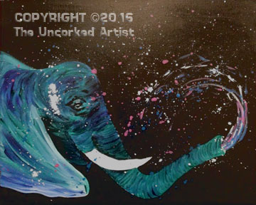 Splatter Elephant  (#384) • Created by Rebecca • 16×20 • Tier 3