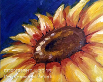 Summer Sunflower (#120) • Created by Liz • 16×20 • Tier 3