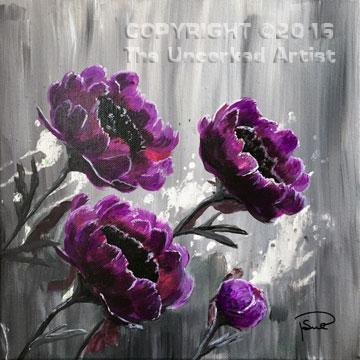 Purple Peonies (#386) • Created by Susan • 12×12 • Tier 3