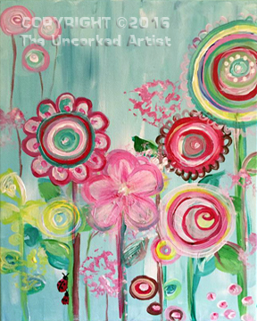 Lollipop Flowers (#398) • Created by Jenn • 11×14 • Tier 2