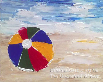 Palette Knife Beach Ball (#401) • Created by Erin • 16×20 • Tier 3