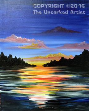 Sunset Waters (#388) • Created by Mandy • 16×20 • Tier 3