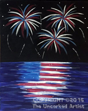 Old Glory (#425) • Created by Michelle • 16×20 • Tier 3 (Special Thanks to Cara Heard, Lush Art Paint Studio)