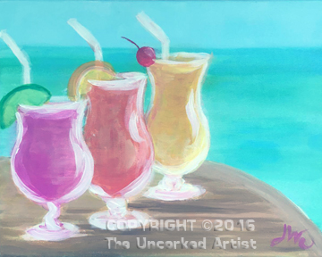 Sips On The Beach (#419) • Created by Jenn • 16×20 • Tier 3