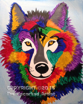 Wild Wolf (#411) • Created by Rebecca • 16×20 • Tier 3