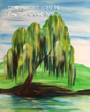 Weeping Willow  (#413) • Created by Susan • 16×20 • Tier 3