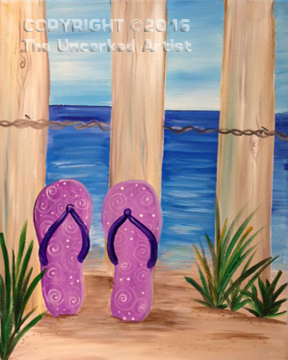 Beach Flip Flops (#428) • Created by Karoline • 16×20 • Tier 3