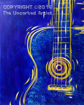 Six String Guitar (#427) • Created by Karoline • 16×20 • Tier 3