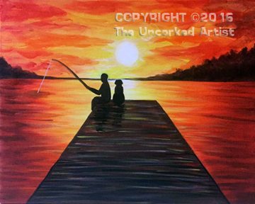 Sunset Fishing (#453) • Created by Michelle • 16×20 • Tier 3