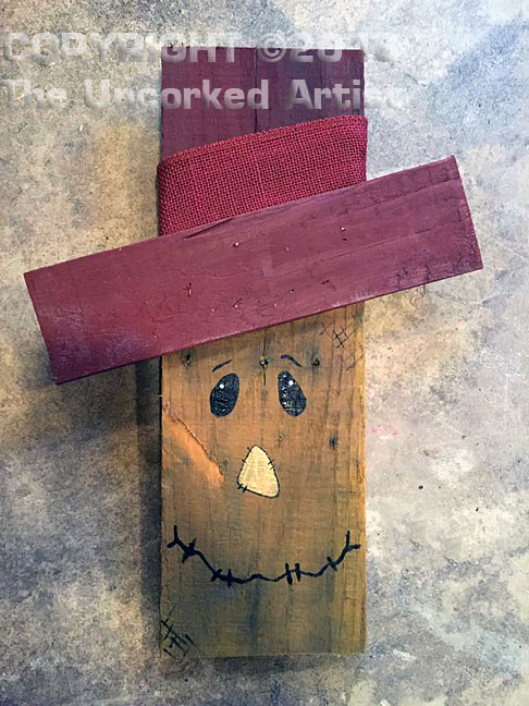 Pallet Board Scarecrow (P001) • Created by Trish • sizes vary • Tier 2