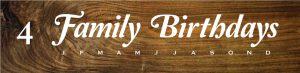 $50 Fresh Wood Plank • Birthday Board 4 • 5