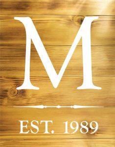 $50 (5) Fresh Wood Planks • Classic Monogram •  12