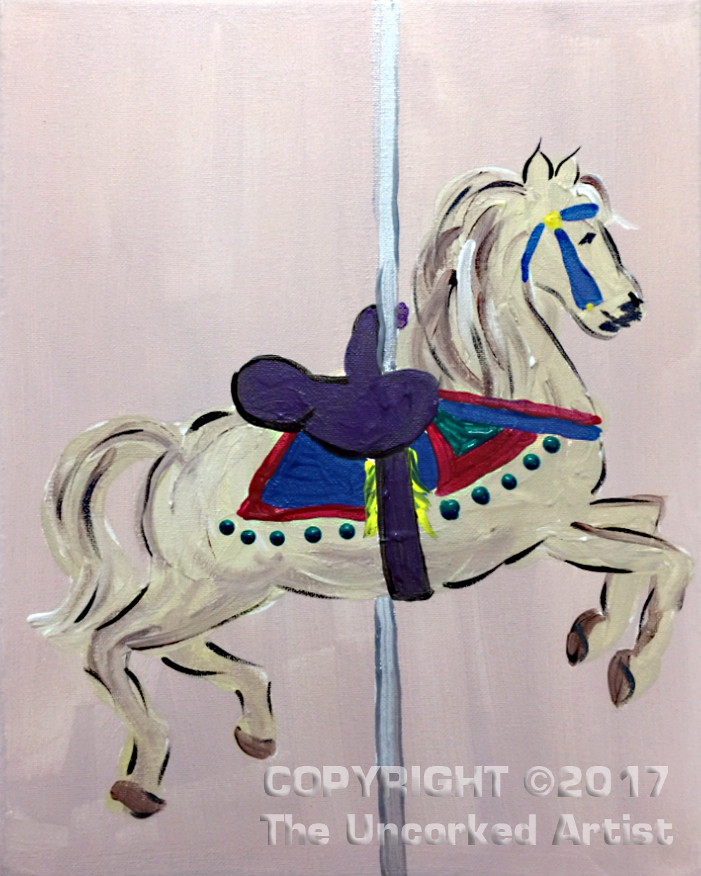 Carousel Horse (#470) • Created by Tara • 11×14 • Tier 3