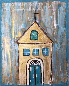 Pallet Knife Church (#478) • Created by Tara • 11×14 • Tier 3
