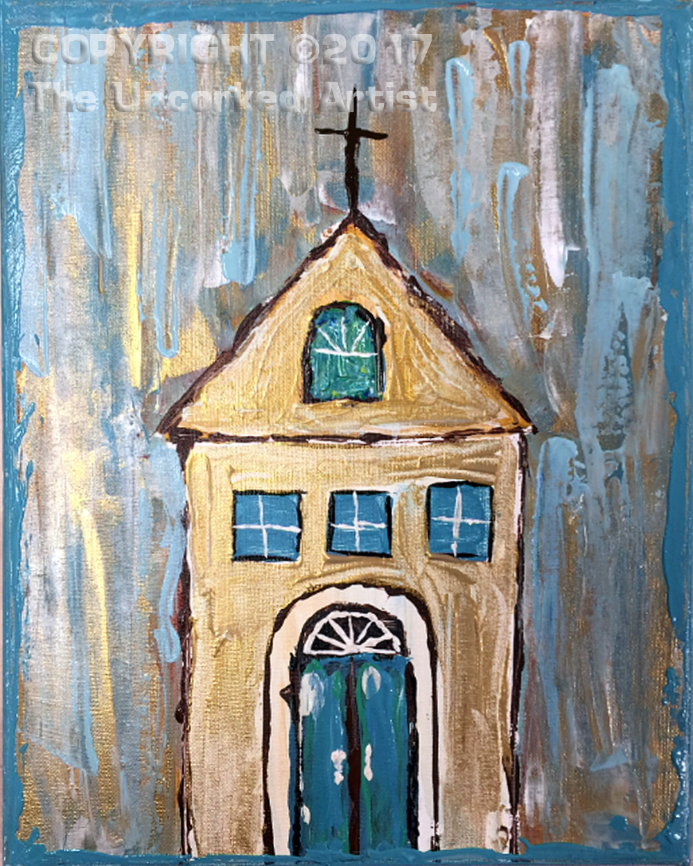 Pallet Knife Church (#478) • Created by Tara • 11×14 • Tier 3