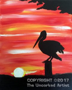 Pelican Sunset (#469) • Created by Tara • 11×14 • Tier 2