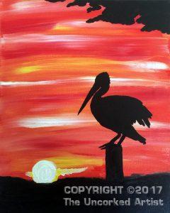 Pelican Sunset (#469) • Created by Tara • 11×14 • Tier 2