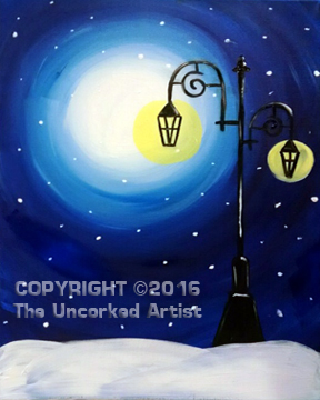 Winter Lamp Post  (#473) • Created by Erin • 16×20 • Tier 3