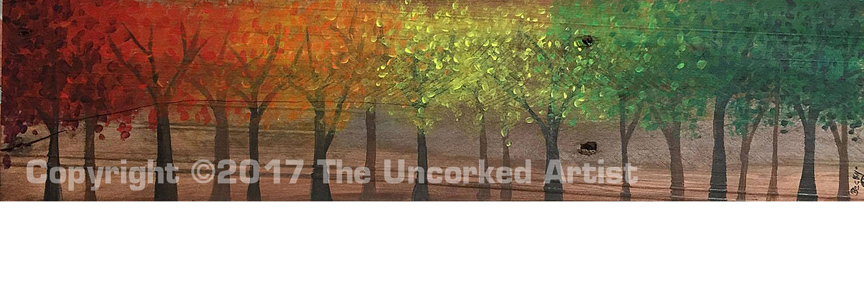 Fall Tree Pallet Art (#P-009) • Created by Rebecca • 5×24 • Tier 3