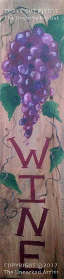 Wine and Grapes Pallet Art (#P-004) • Created by Rebecca • 5×24 • Tier 3