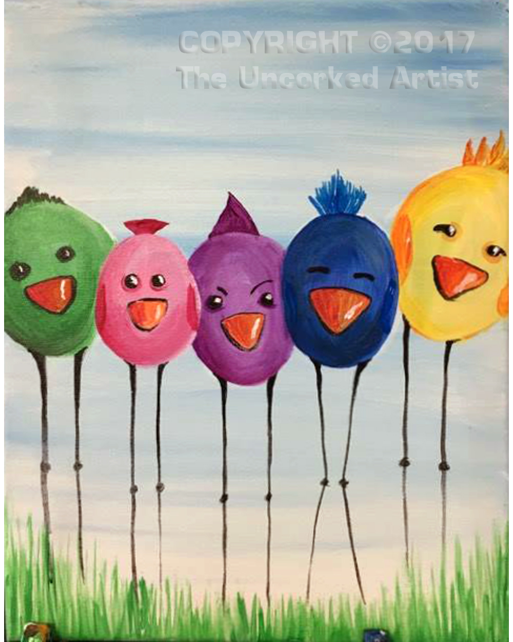 Spring Chicks (#486) • Created by Susan • 11×14 • Tier 2