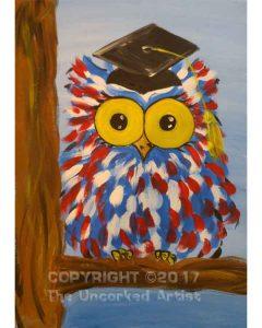 Graduation Owl (#494) • Created by Lisa • 11×14 • Tier 2
