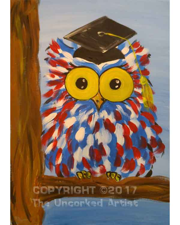 Graduation Owl (#494) • Created by Lisa • 11×14 • Tier 2