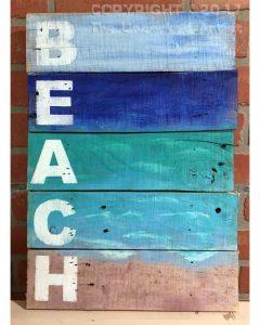 $40 (5) Wood Boards • BEACH Pallet  • 12