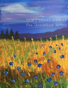 Cornflower Field (#499) • Created by Tara • 11×14 • Tier 3