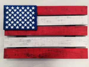 $45 Fresh Wood • American Flag • 24