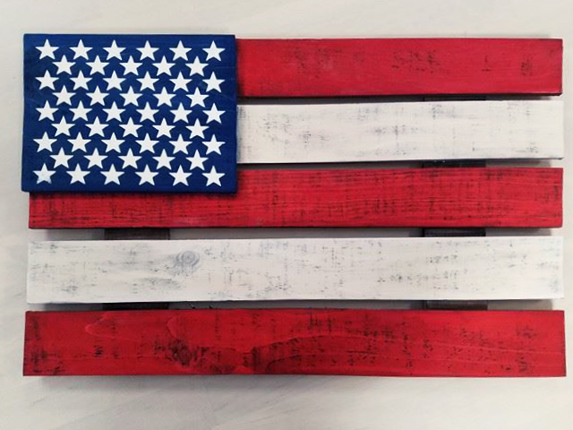 Wooden American Flag Sign – Special Event