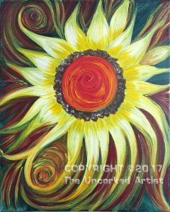 Swirling SUNflower (#497) • Created by Rebecca • 11×14 • Tier 3