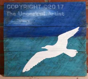 $40 (3) Wood Boards  • Seagull Pallet  • 12