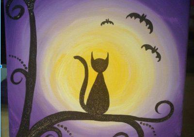 Mini Cat And Moon
