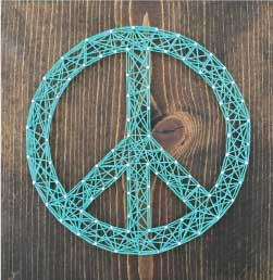 Peace Sign String Art