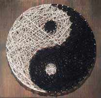 Yin Yang String Art