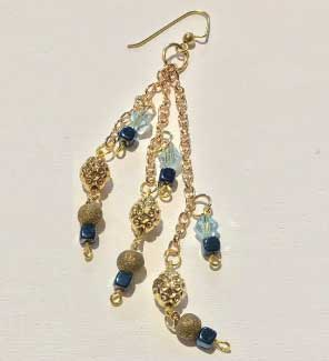 Chain Beaded Earring