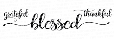 Grateful, Thankful, Blessed - 16x6