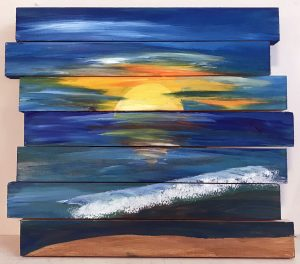 Sunset Beach (#P506) • Created by Mandy • Pallet Wood • Tier 3